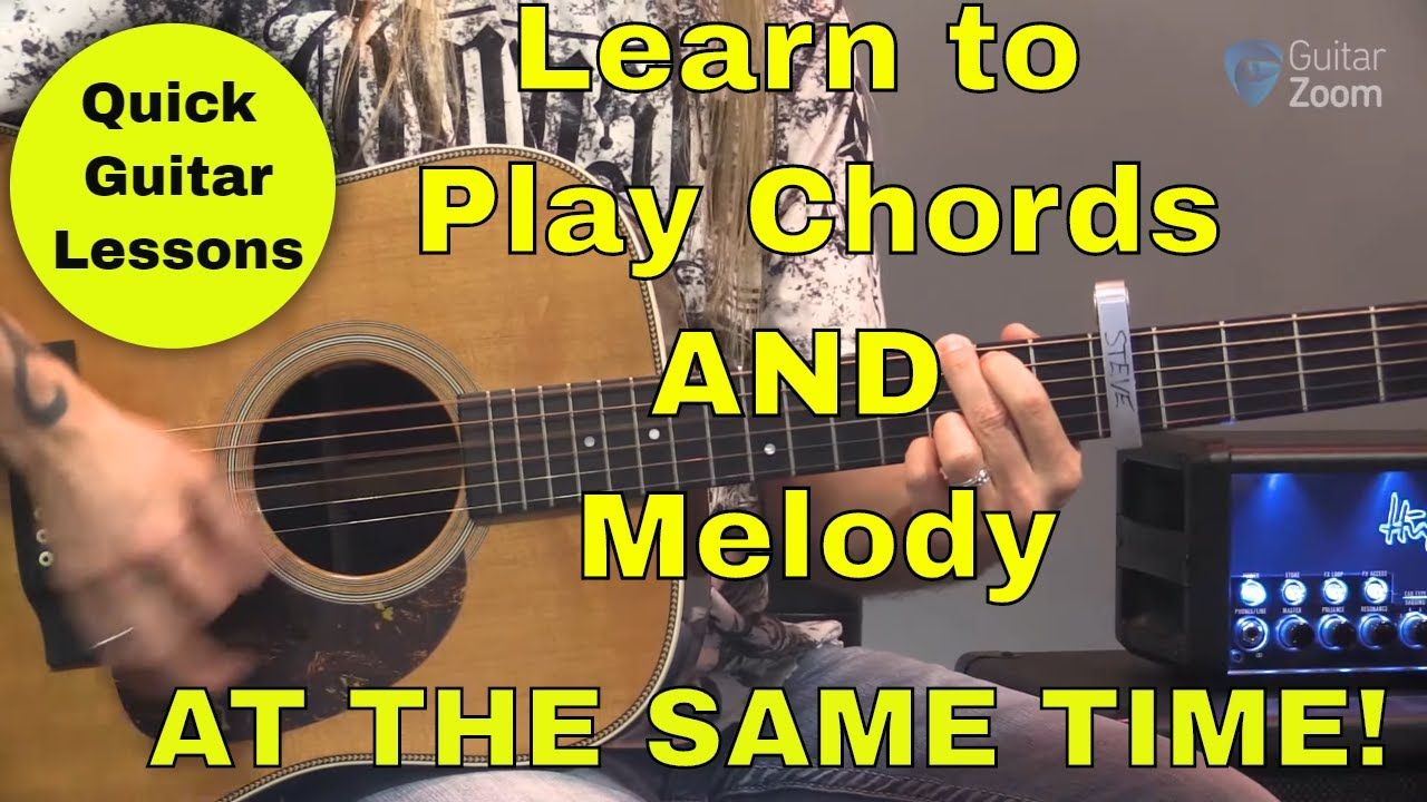 Quick Guitar Lesson 4 Combining Melody And Chords Together Guitar Lessons Guitar Lesson