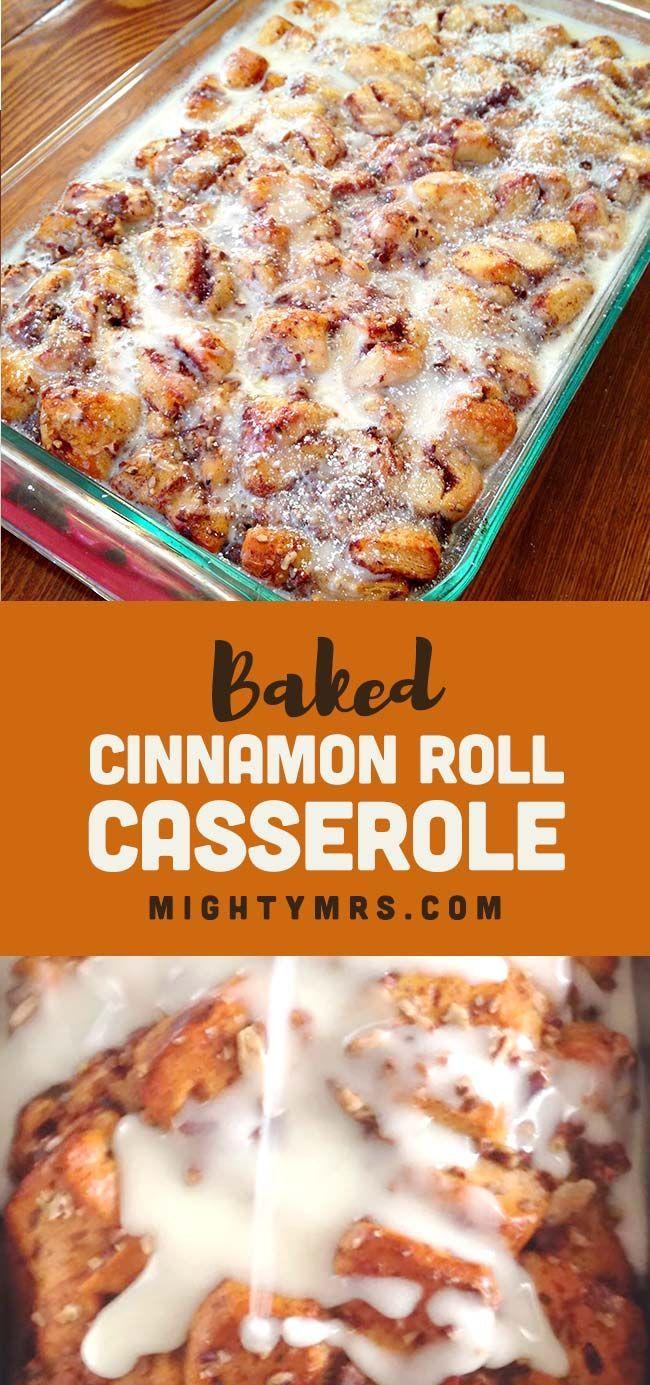 Easy Cinnamon Roll Casserole | Mighty Mrs
