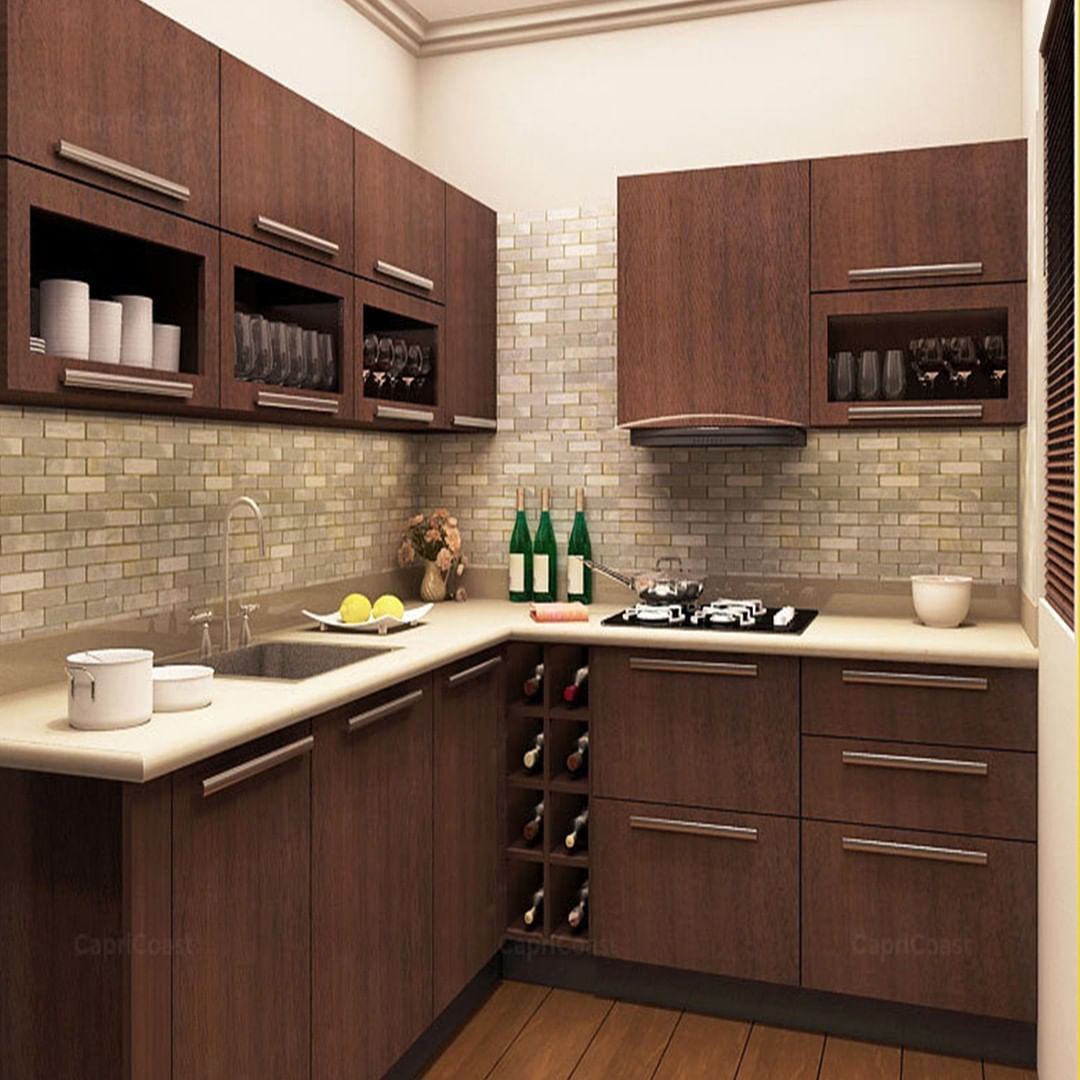 this gorgeous l shaped kitchen with a mini bar is lit interiors interiordesign on l kitchen remodel id=76166