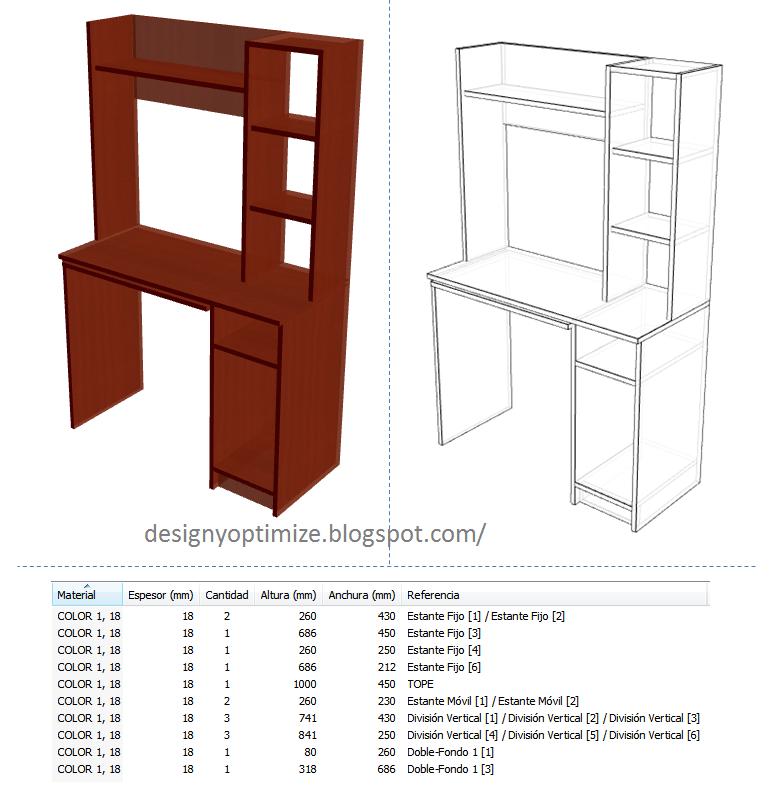Dise o de muebles madera mesa mueble moderno para - Como hacer una mesa de ordenador ...