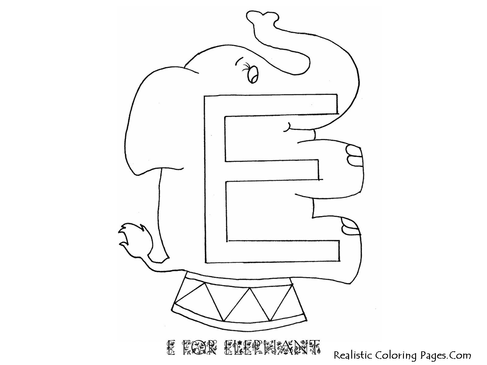 Alphabet Coloring Pages E For Elephant