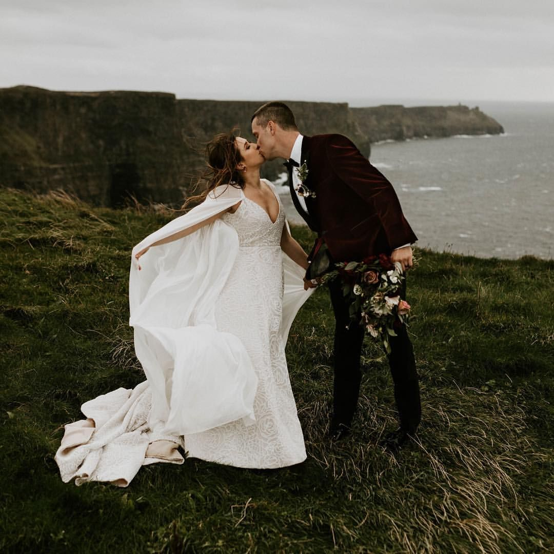 Adventurous Ireland Elopement On The Cliffs Of Moher. I