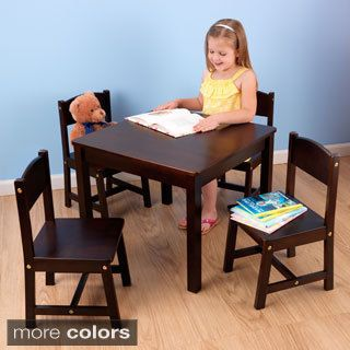 kidkraft 5-piece euro honey table and chair set - 16469402