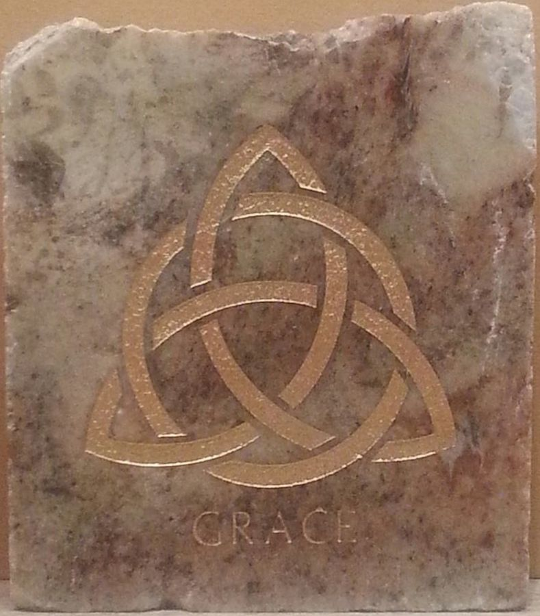 Custom Celtic Grace Home Garden Stone Made From Genuine 1 Thick