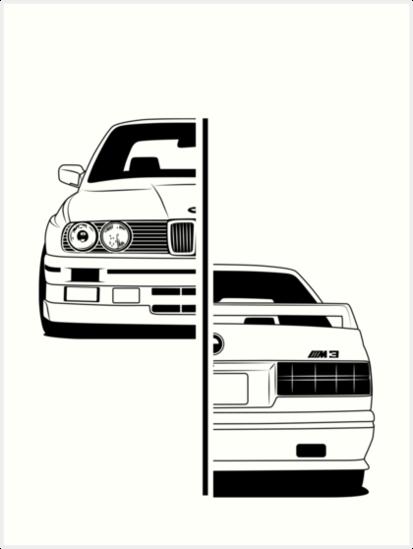 'E30' Art Print by CarWorld