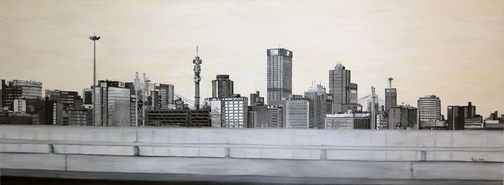 Johannesburg city scape night google search art pinterest buy johannesburg skyline paintings for sale by top emerging artists at stateoftheart thecheapjerseys Images
