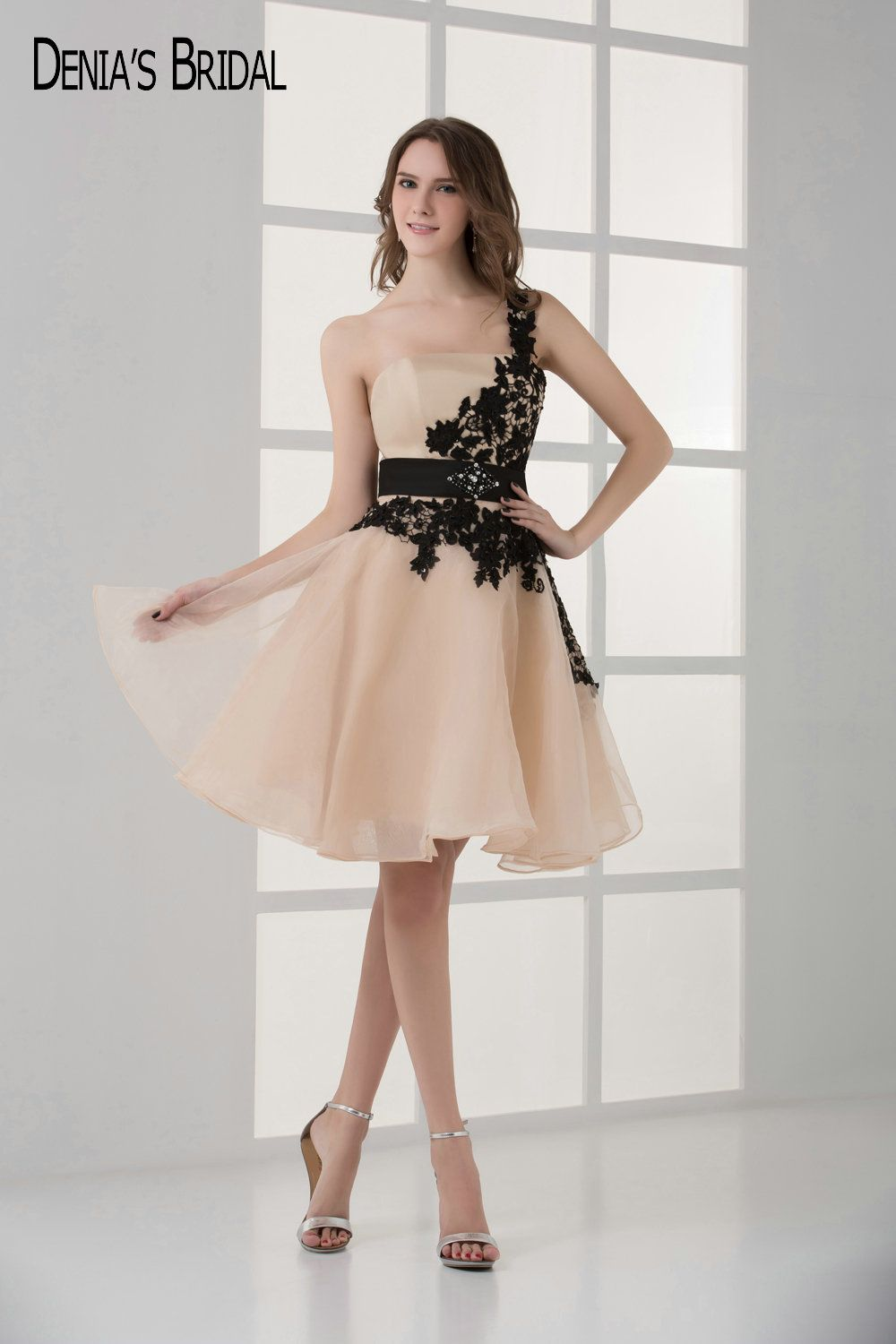 Click to buy ucuc short chiffon cocktail party dresses with