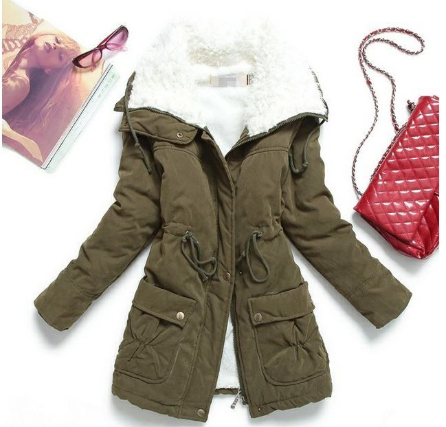 9a435fc0721 Casaco Feminino Slim Importado Inverno Super Quente - R  220