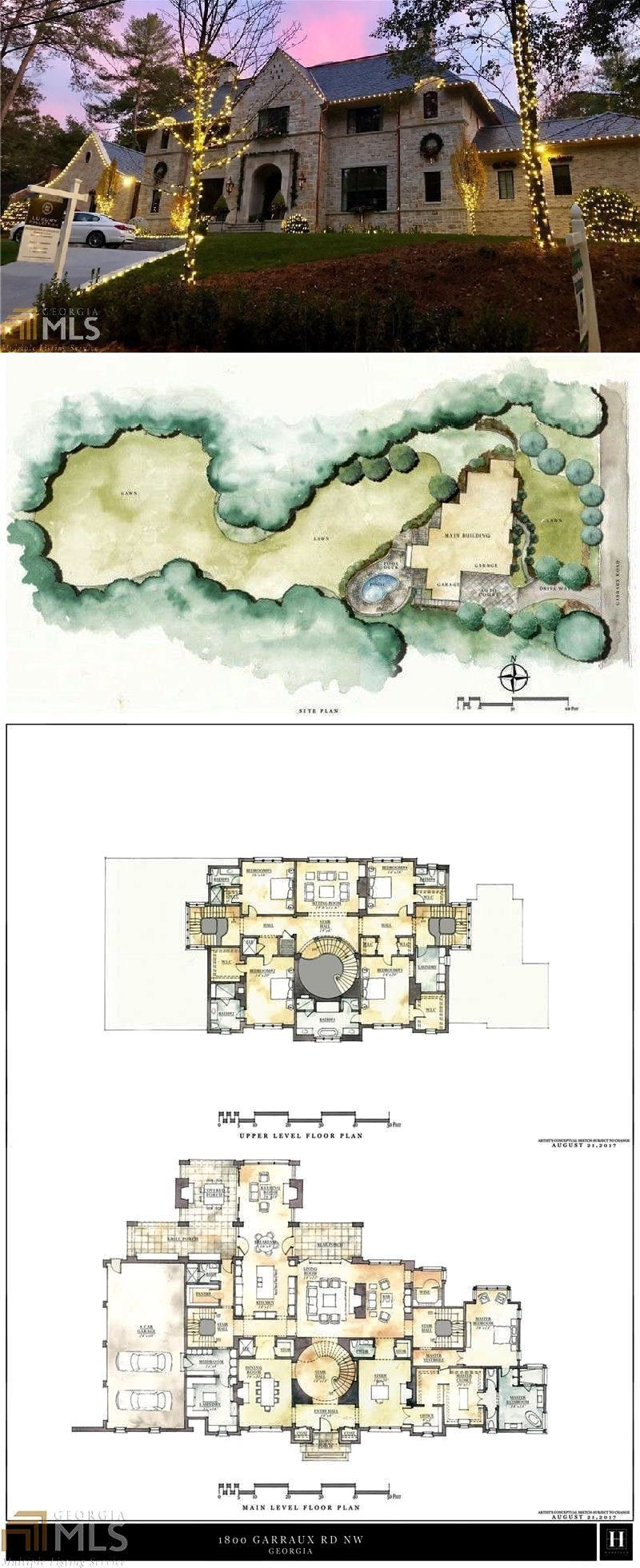 1800 Garraux Rd Nw Atlanta Ga 30327 Realtor Com Luxury House Plans Mansion Floor Plan Modern House Plans