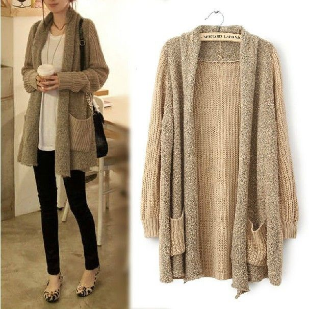 fluffy sweater oversized cardigan knitted tunic women sweaters and ...