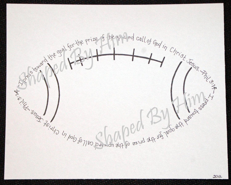 Football  Phil 314  8x10 by ShapedByHim on Etsy, $15.00