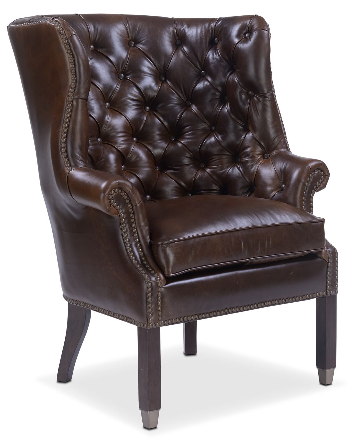Living room furniture cranston accent chair brown