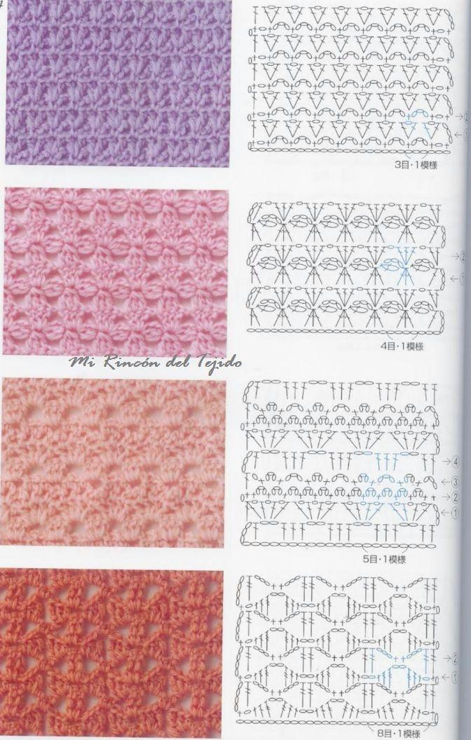 ❤ ✿ Mi Rincón del Tejido ✿ ❤: Puntos fantasía tejido en crochet ...