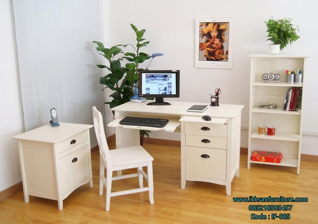 Superior Furniture, Small Home Office Design Ideas With Modern Modular Desk  Furniture Home Office Design With Laminate Floor And White Furniture Sets  As Wood Chair ...