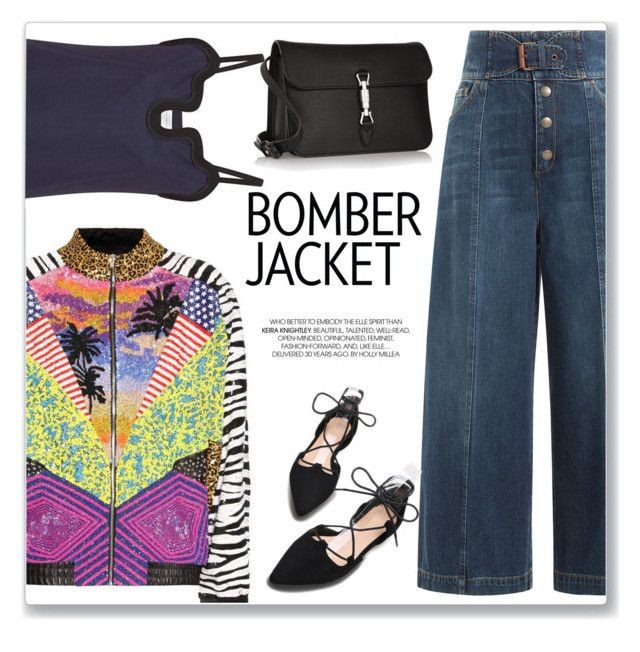 """""""Light Topping: Summer Bomber Jackets"""" by bliznec-anna ❤ liked on Polyvore featuring Yves Saint Laurent, RED Valentino and Gucci"""