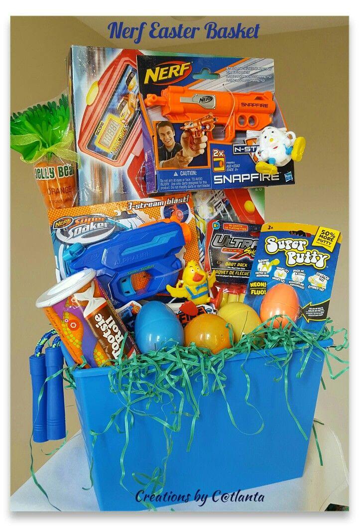 Nerf easter basket gift baskets pinterest easter baskets nerf easter basket negle Gallery