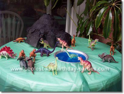 Dinosaur Party Decorations Ideas Inside the Dinosaur party area