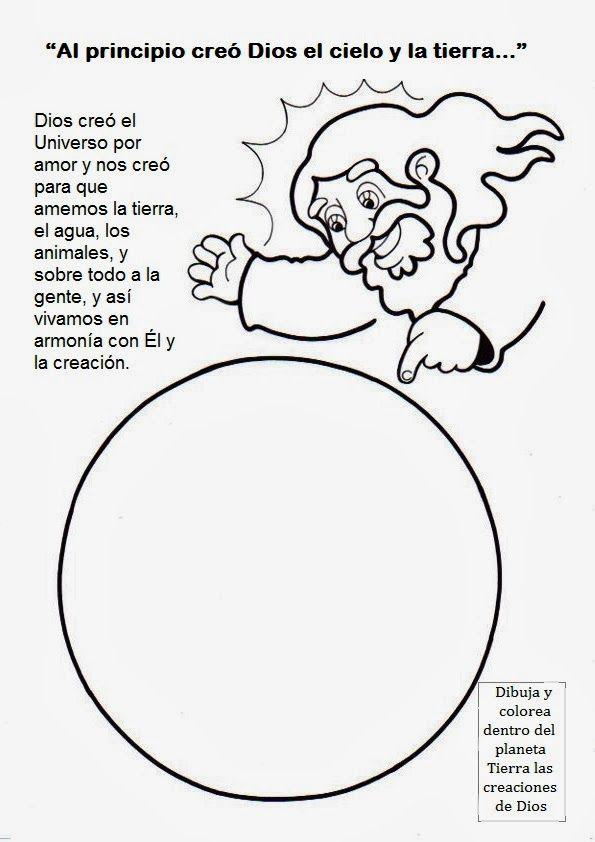 Fichas Para Imprimir Sobre La Creación Fuente Educarconjesus