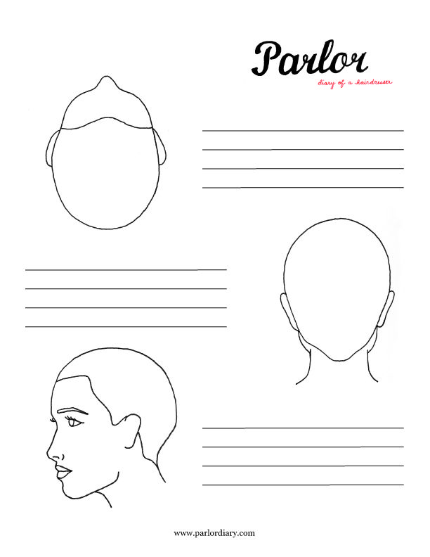Download a free head sheet for cosmetologists / hairstylists use ...