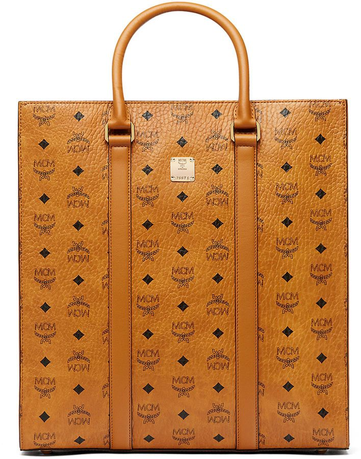 18c67669 MCM Ottomar North-south Tote In Visetos | BAGS | Bags, Luxury travel ...