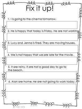 Verb Tenses Activities Worksheets Verb To Be Verb Tenses