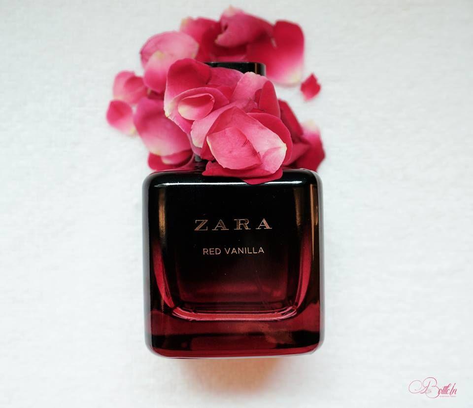 Zara Women Perfume Red Vanilla Concept Product Photography