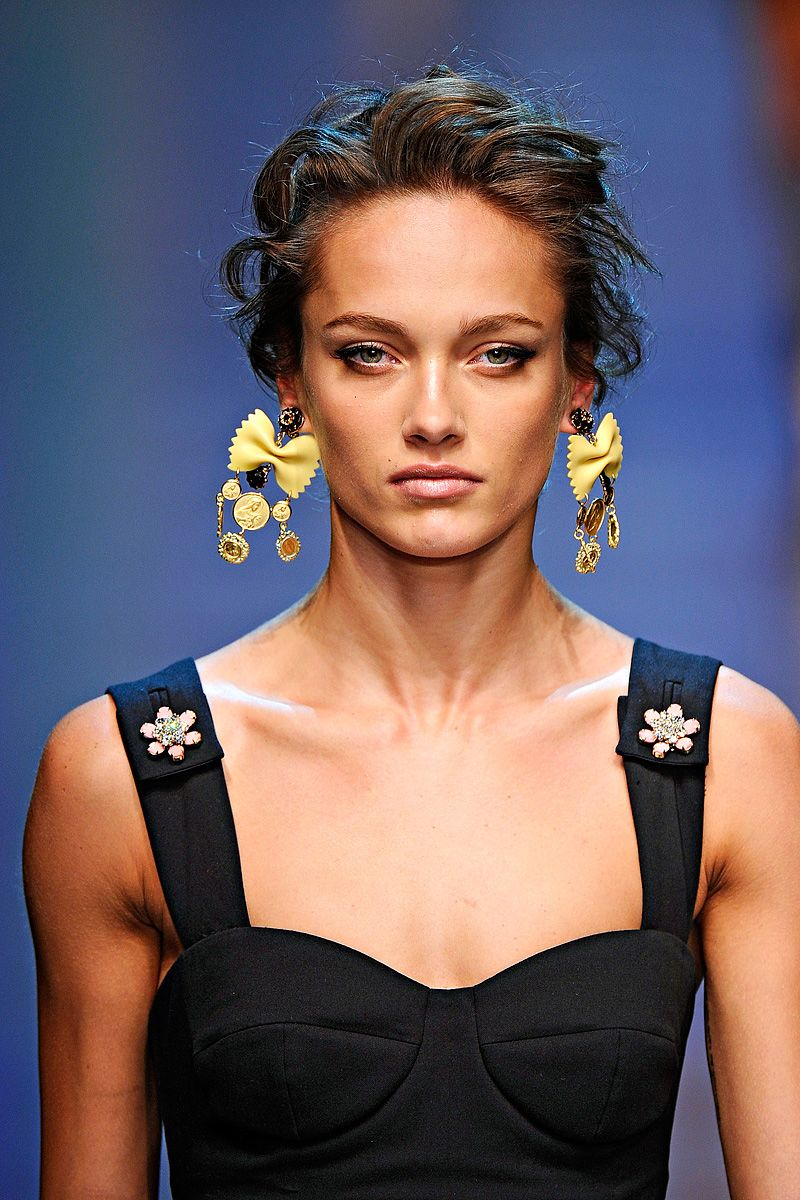 Pasta earrings -- Dolce and Gabbana Spring 2012