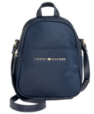 67a24877 TOMMY HILFIGER Tommy Hilfiger Juliette Nylon Mini Backpack Crossbody. # tommyhilfiger #bags #leather #nylon #backpacks #