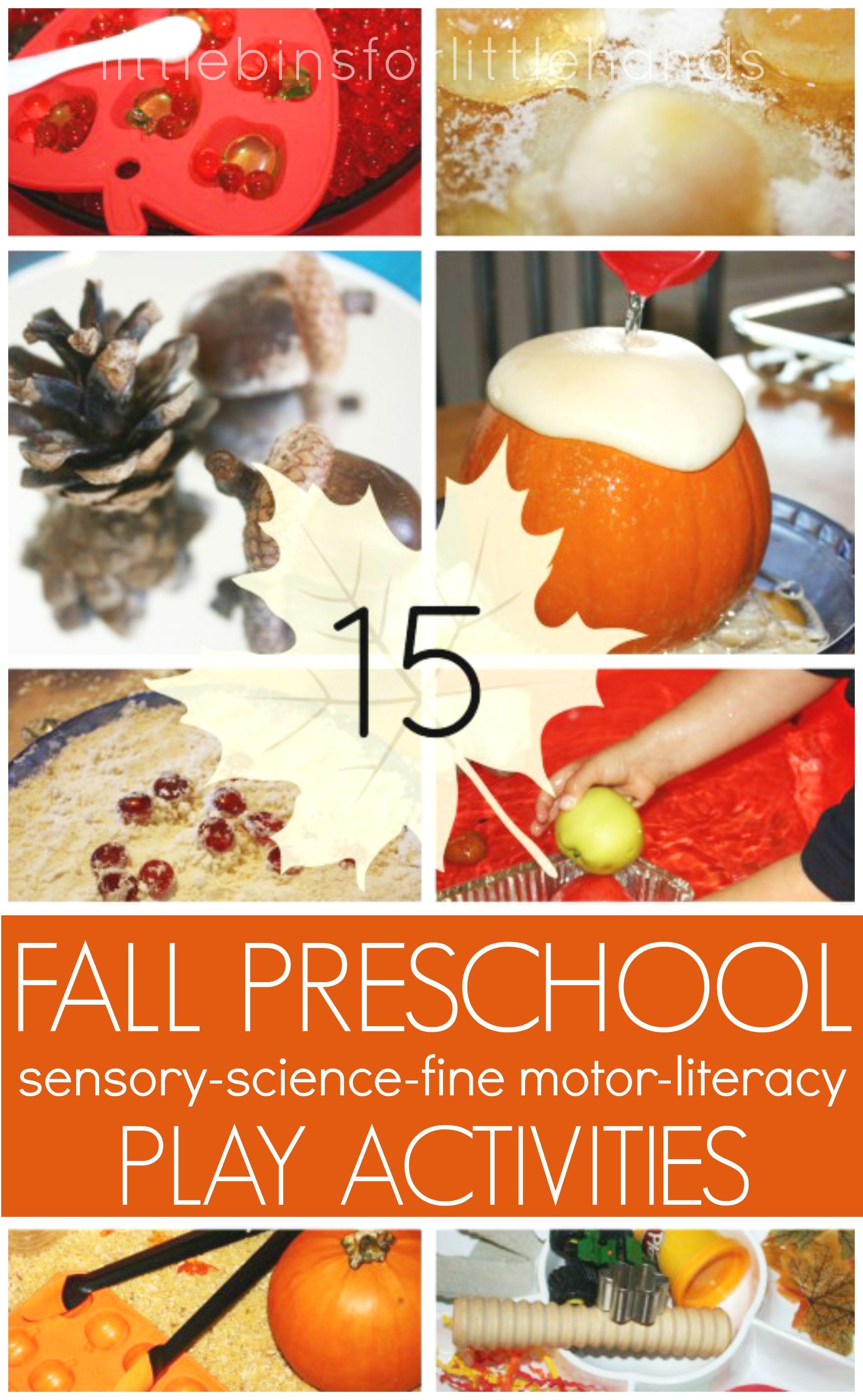 Fall Sensory Activities For Kids