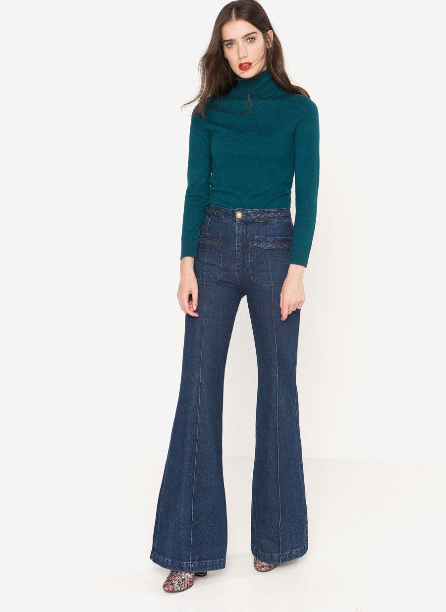 3e4d9104d31 Jeans rectos índigo   Gorgeous Casual ( Daily Look)   Jeans, Bell ...