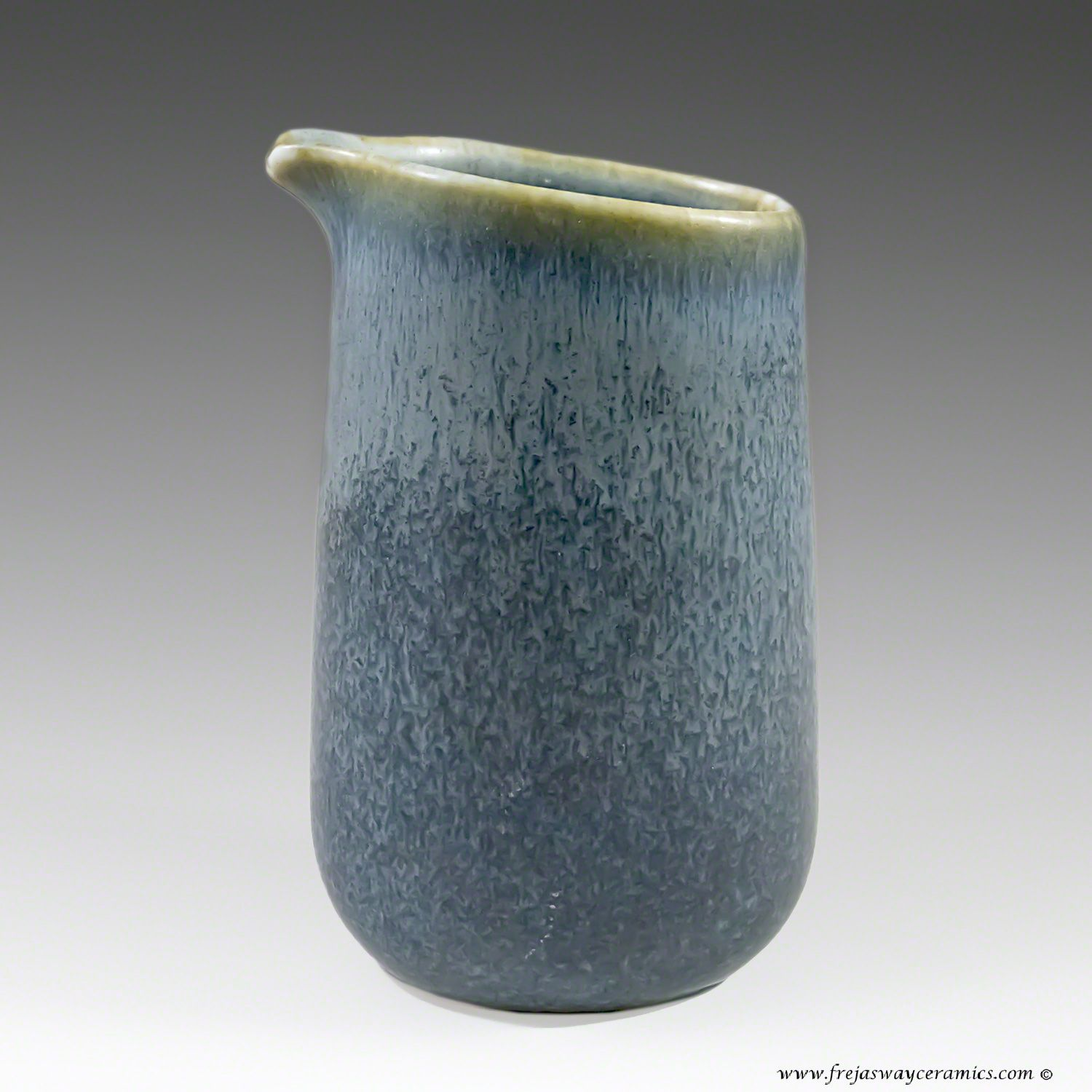 Carl Harry Stalhane for Rorstrand, creamer in a blue haresfur glaze. SYN