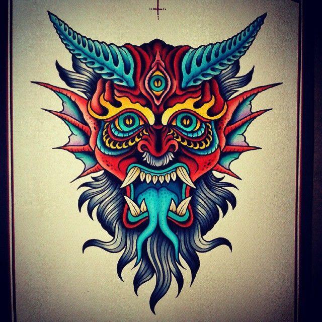 Tattoo Designs Devil: Devil Print... #traditionaltattoo #besttradtattoos