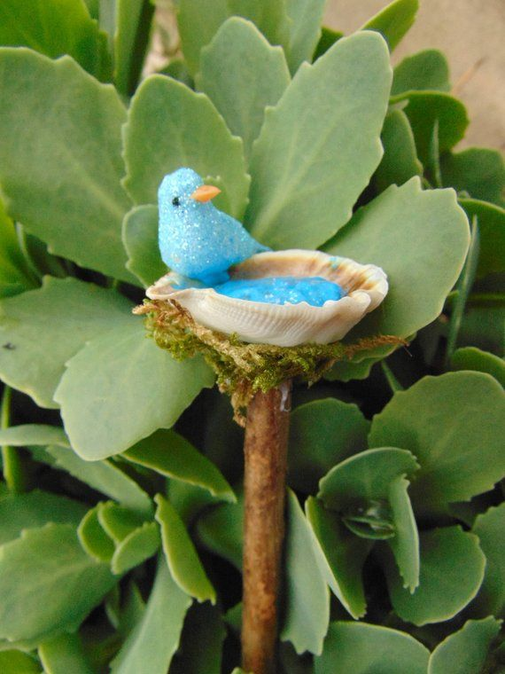 Miniature Bird Bath Fairy Garden Accessory,bird bath,fairy bird, fairy bird bath,fairy accent,fairy accessories,fairy garden,miniature is part of Fairy garden Bird Bath - Miniature Bird Bath Fairy Garden Accessory,bird bath,fairy bird, fairy bird bath,fairy accent,fairy accessories,fairy garden,miniature  Miniature bird bath for your fairy garden  This birdbath will make a great addition to your fairy garden  I will create a birdbath for you that will be very close to this on the picture! You only have to choose the color of water and see the options ) Crystal as 1st photo or blue  they both are super cute! ) Thank you!