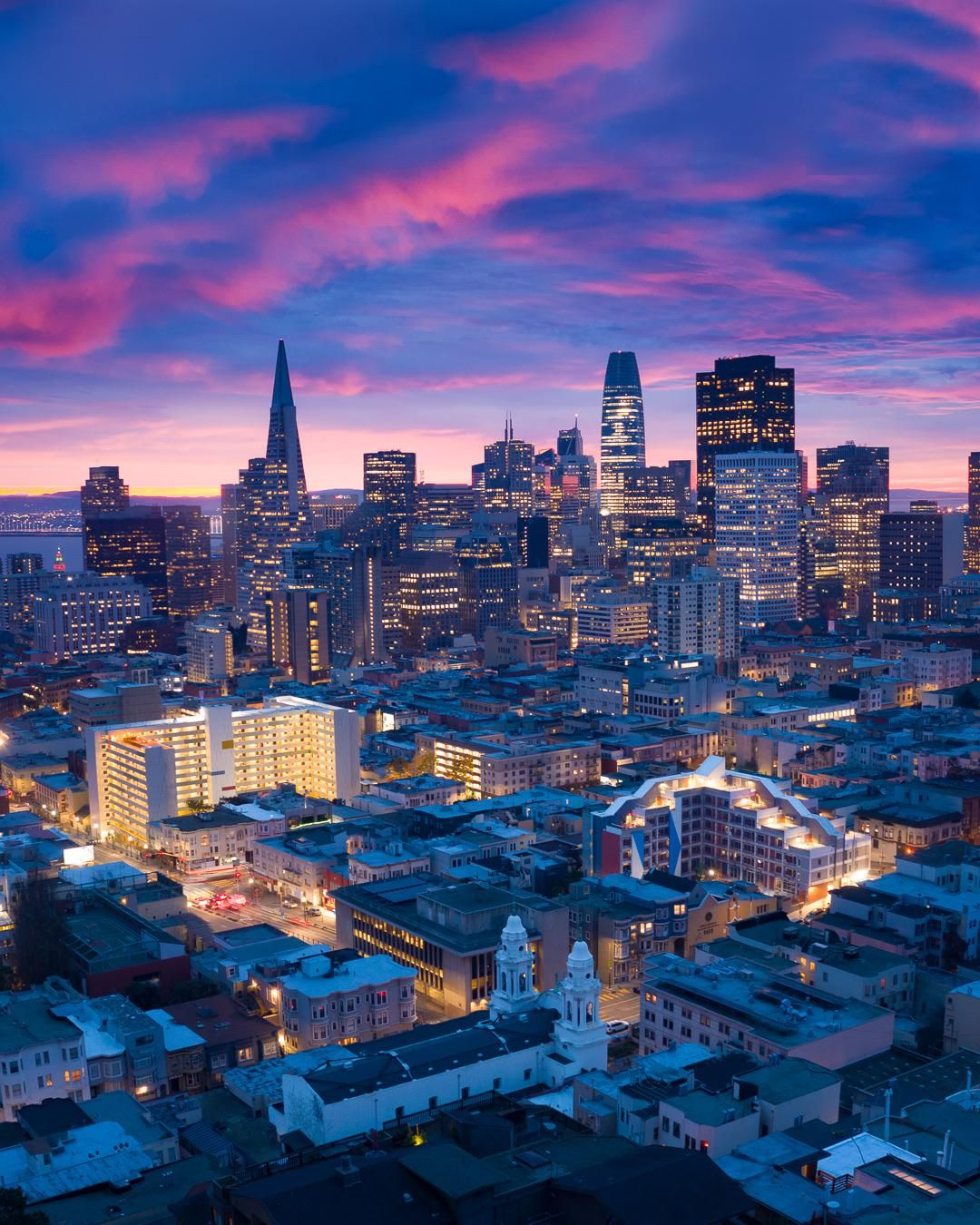 Blue Hour In San Francisco. #city #cities #buildings