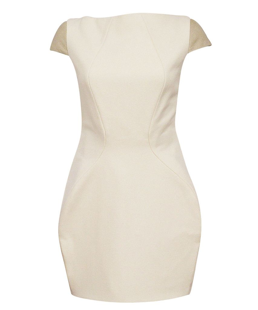 GEORGIA HARDINGE  machine dress | SHOP NOW > http://www.threadbare.co/collections/designers-clothing/products/machine-dress #georgiahardinge #dress #white #cream #structured #boxdetail #wool