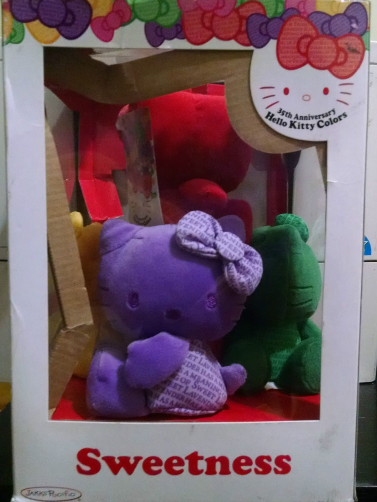 Sanrio Jakks Pacific 35th Anniversary Hello Kitty 5 Plush Doll New w Damaged Box   eBay