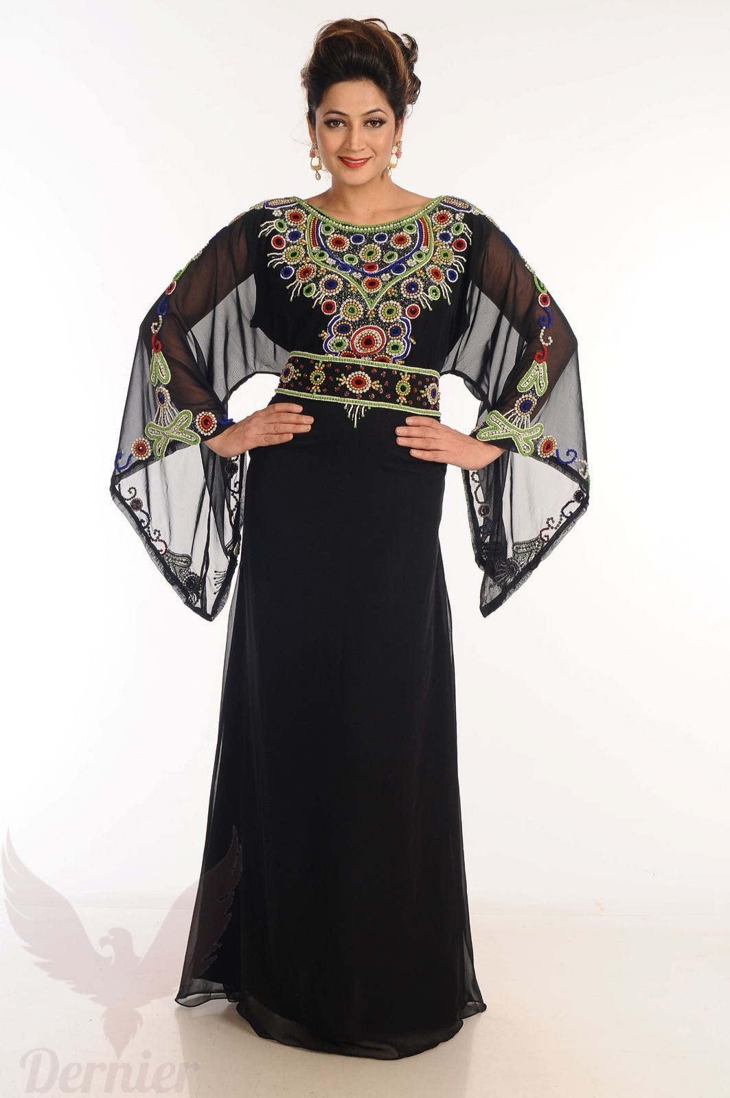 Womens long kaftan dubai abaya arabian wedding farasha jalabiya gown