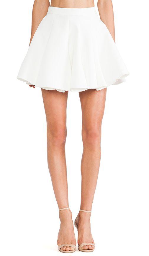 812c845490 REVOLVE clothing white flouncy skirt - so cute #white #skirt #polo  #currentlyobsessed