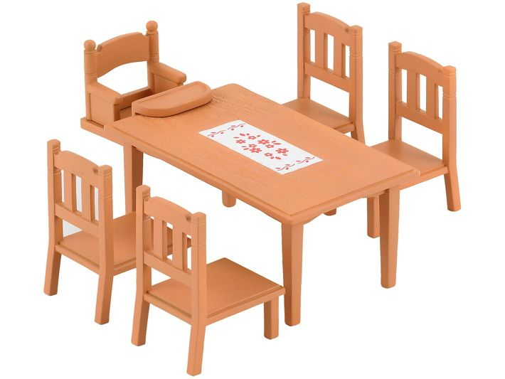 Family Table Chairs Sylvanian Families Family Furniture Sylvanian Families Furniture Dining Table