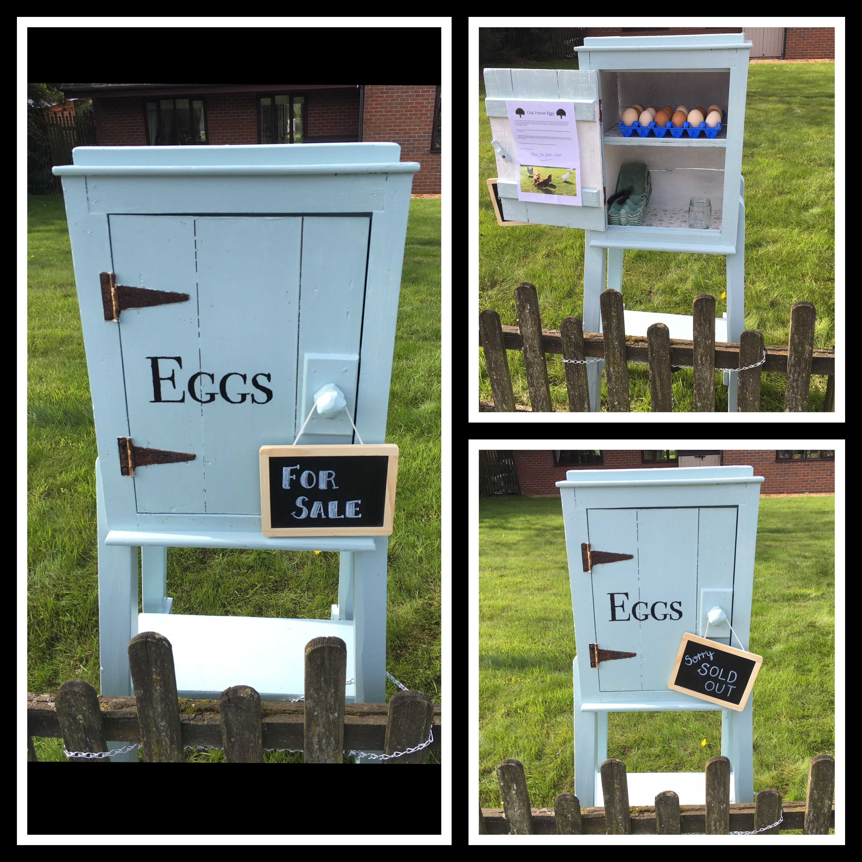 Our Egg Shed An Honesty Box At The Roadside I Painted An Old Barn