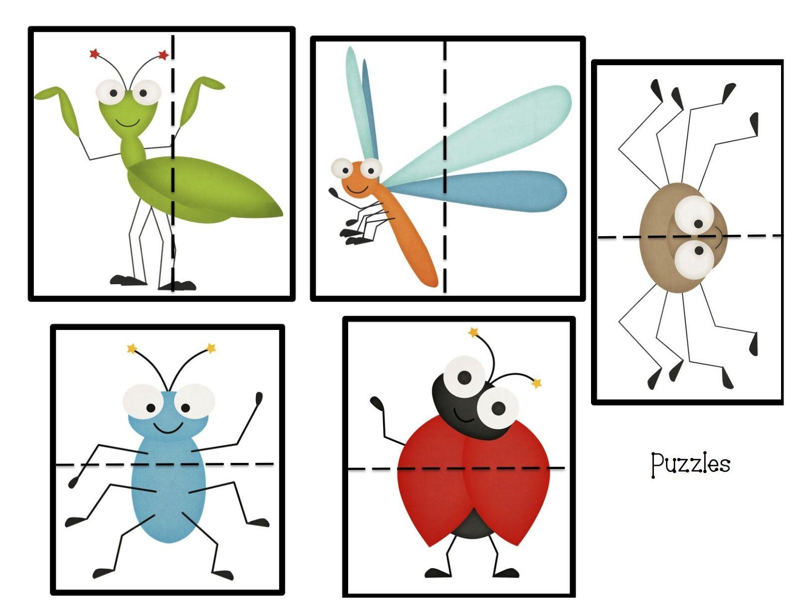 Insectos | Puzzles | Pinterest | Insectos, Bichos y Preescolar
