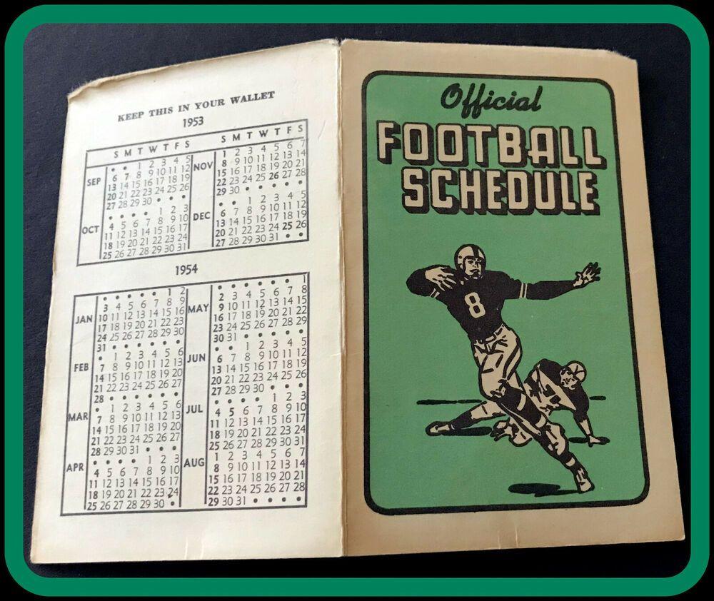 1953 TECH SHERWOODS FLOWERS FOOTBALL