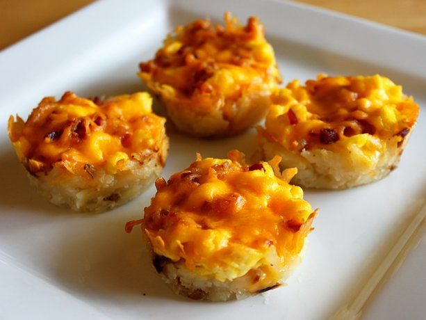 Brunch cups (hash browns, cheese, bacon)