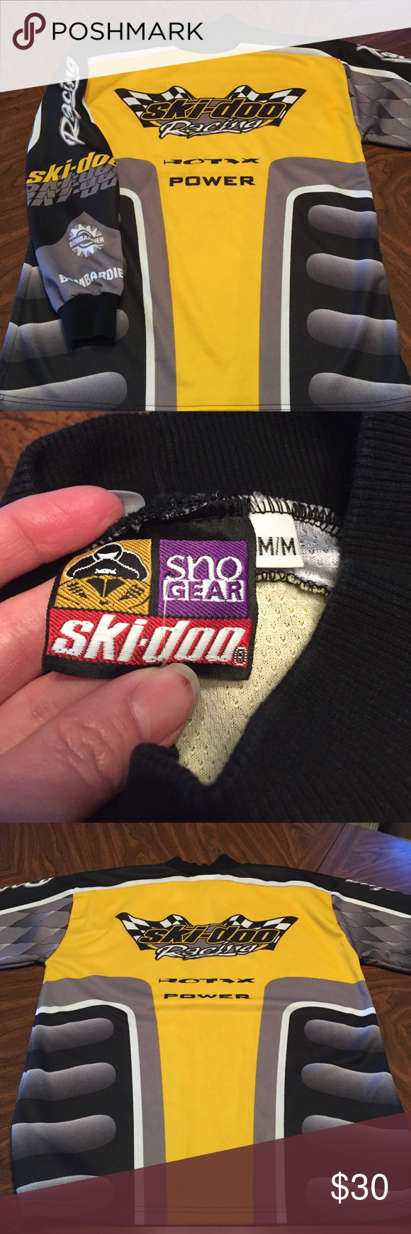 Men S Ski Doo Racing Shirt Racing Shirts Mens Skis Shirts