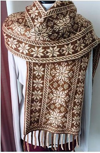 Nordic Scarf pattern by Wendy D. Johnson   Scarves, Rounding and ...