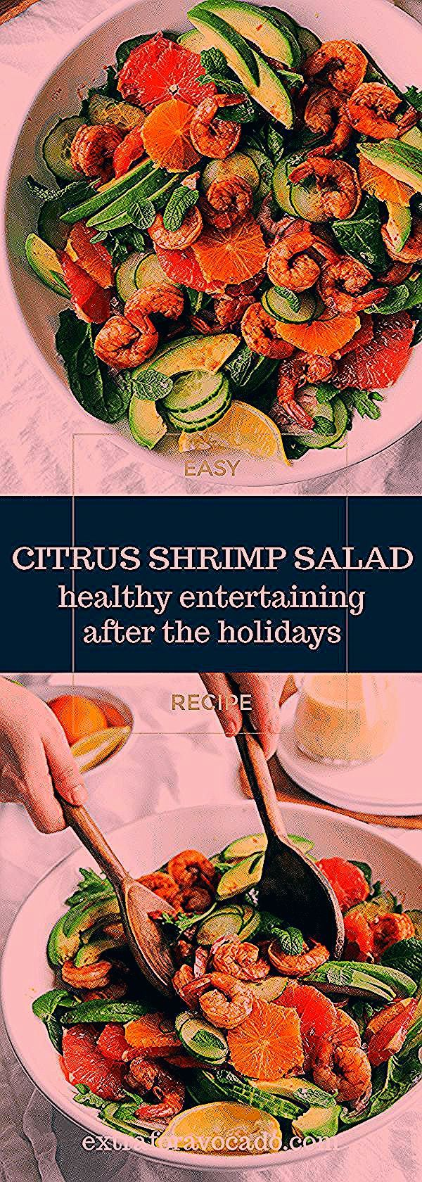 Citrus Shrimp Salad with Avocado  - Salads -