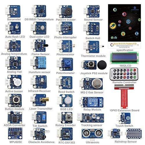 Sunfounder 37 modules sensor kit v20 for raspberry pi 3 https for arduino raspberry pi sensor kit kuman 37 in 1 robot projects starter kits with tutorials for arduino uno rpi 3 2 model b b publicscrutiny Choice Image