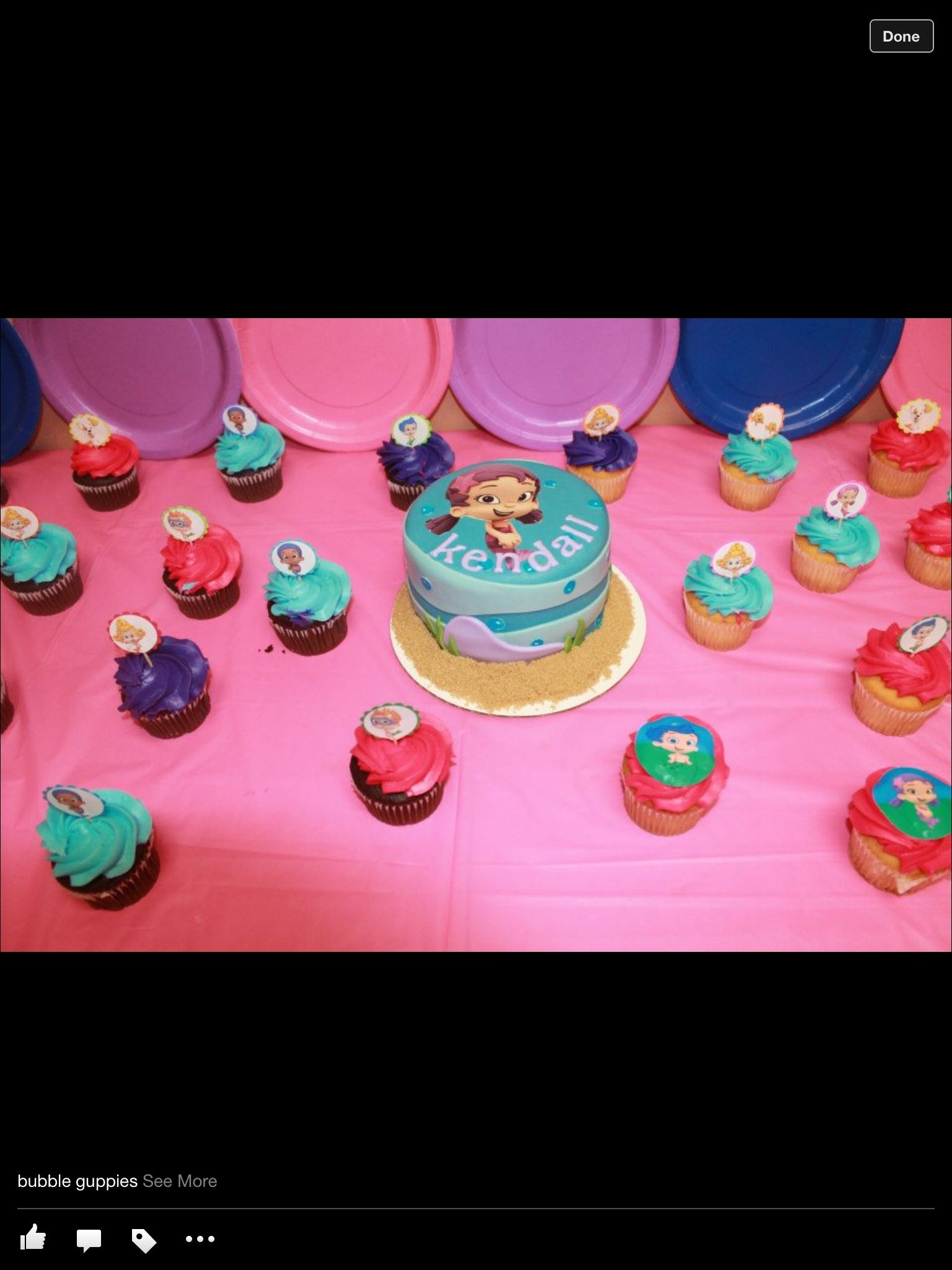Ordered bubble guppie cake for my Kendal bear