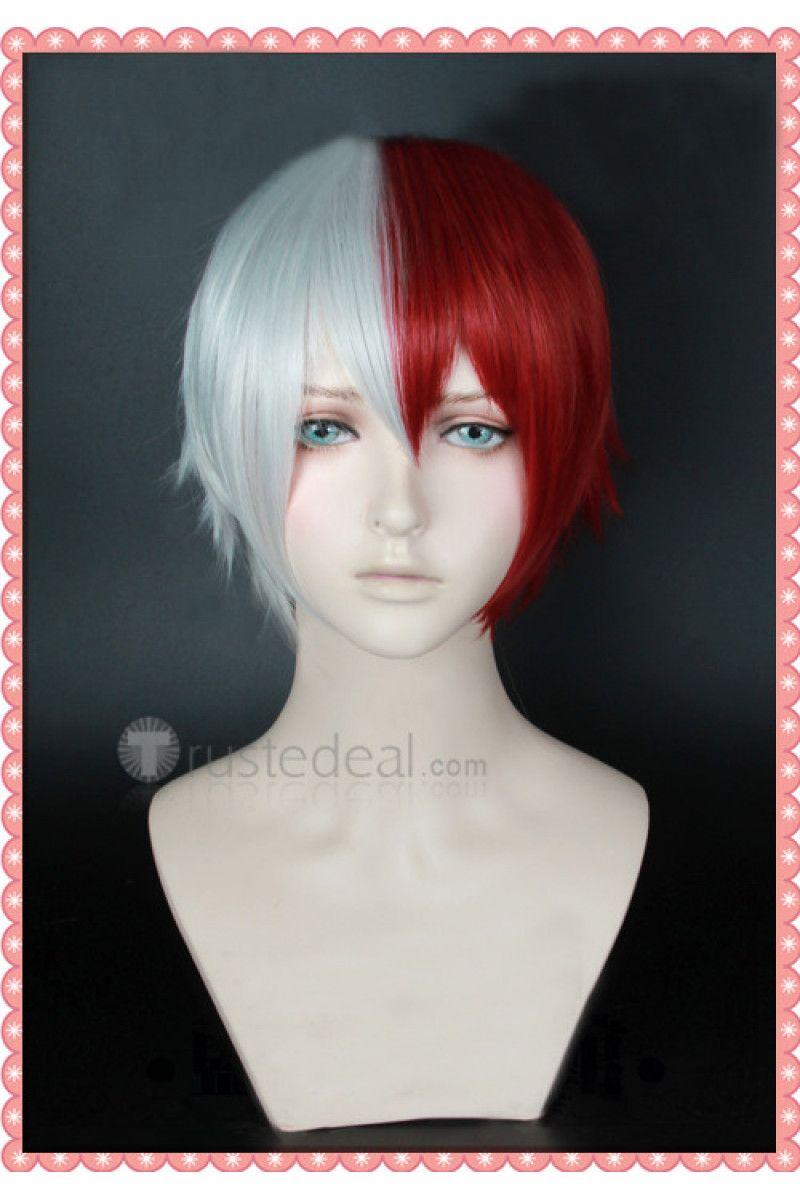 My Hero Academia Boku No Hero Academia Shouto Todoroki Red White Ponytails Cosplay Wig Cosplay Wigs Wigs Anime Wigs