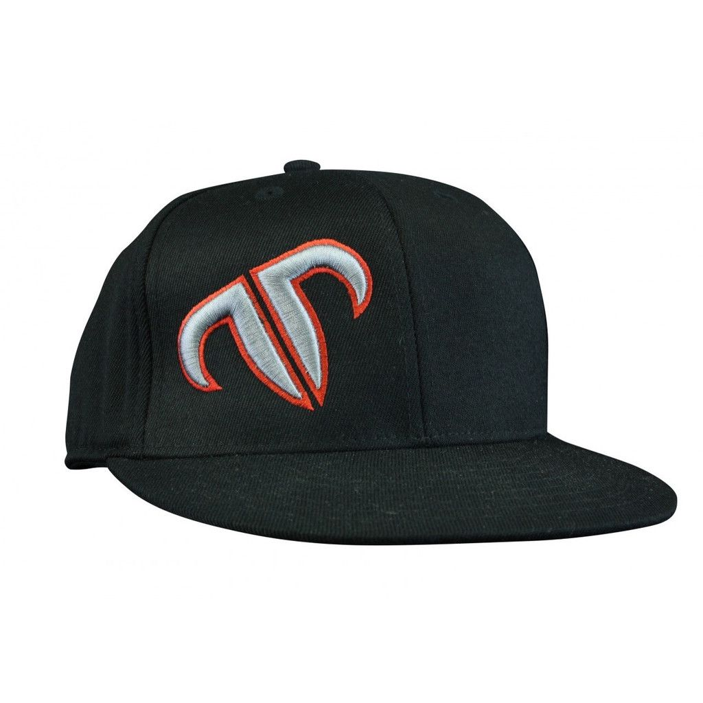 best website cf710 9ac54 Rank Bull Icon Premium Flexfit 210 Cap in Black with Red and Grey Logo